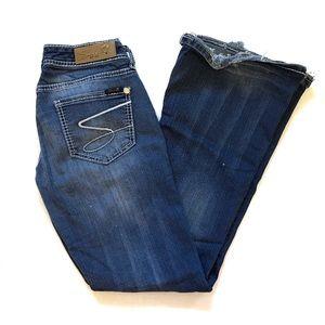 Seven Flare rhinestone embellished jeans 27